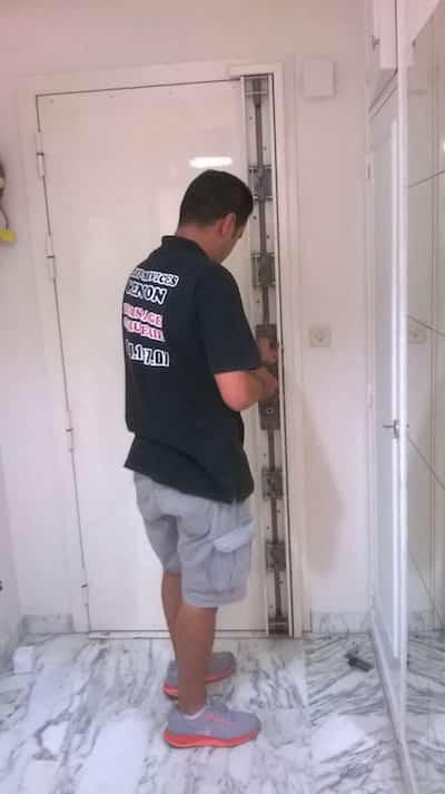 installation de porte blindée